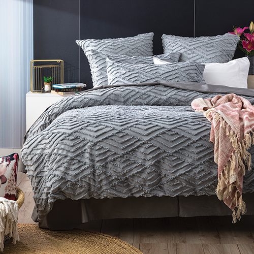 Revive Living Chevvy Cotton Chenille Tufted Quilt cover set