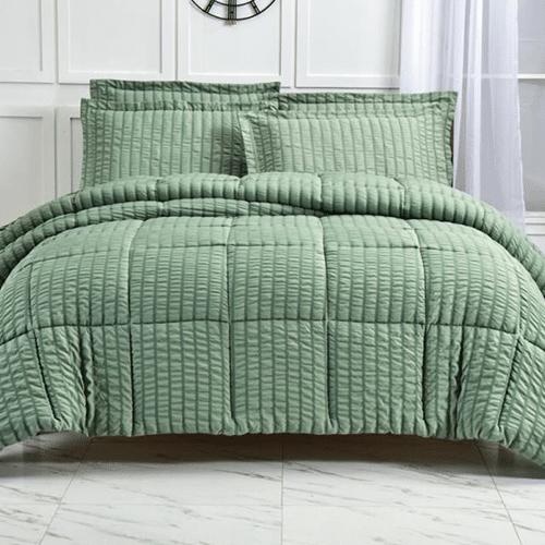 Revive Living- Seersucker 3 Piece Comforter Set
